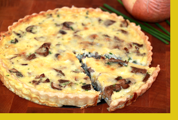 Over-The-Top Mushroom Quiche Recipe — Dishmaps
