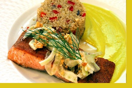 Pan Seared Fennel Salmon