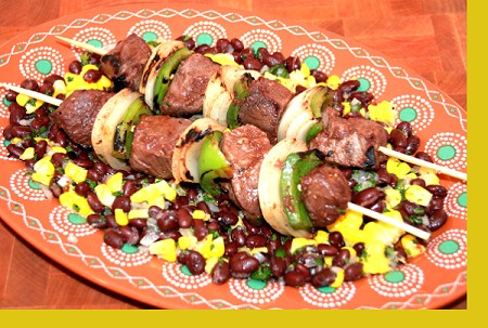 Raspberry Balsamic Steak Kebabs