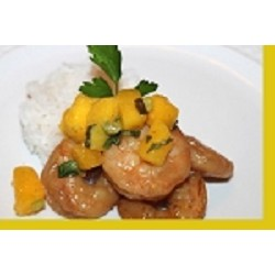 Coconut Shrimp with Mango Basil Salsa