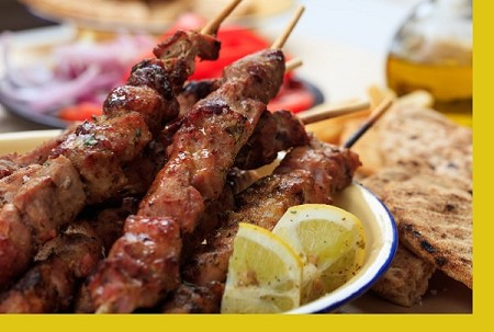 Greek Pork Tenderloin Kebabs